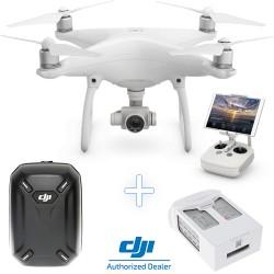 DJI Phantom 4 Camera Drone + DJI Hardshell Backpack  + Additional Intelligent Flight Battery