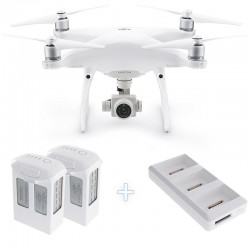 DJI Phantom 4 Pro Camera Drone + two additional Intelligent Flight Batteries 5870mAh + charging hub