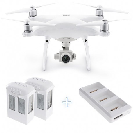 DJI Phantom 4 Pro Camera Drone with two additional batteries and charging hub