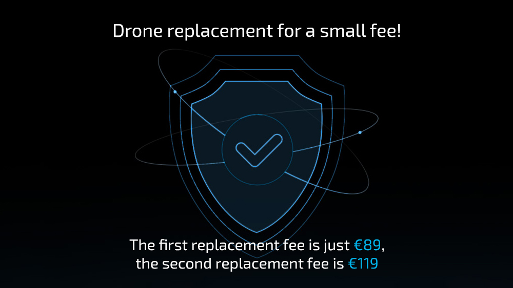 To two replacement units within one year for DJI Mavic Air