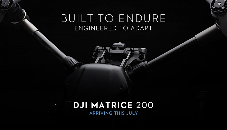 DJI Matrice 200 industrial drone - arriving this july at COPTERS.EU