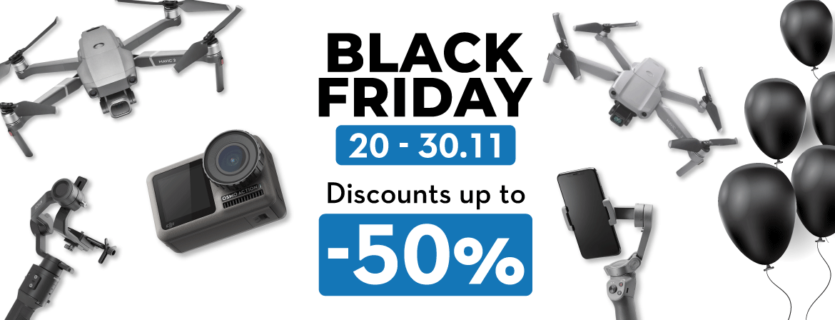 Choose your new DJI drone from Black Friday in COPTERS.EU!