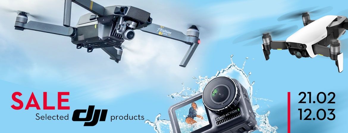 Selected DJI products on sale in COPTERS.EU!