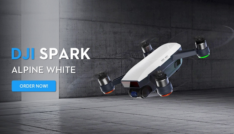 DJI Spark Alpine White is in stock at COPTERS.EU! Order now!