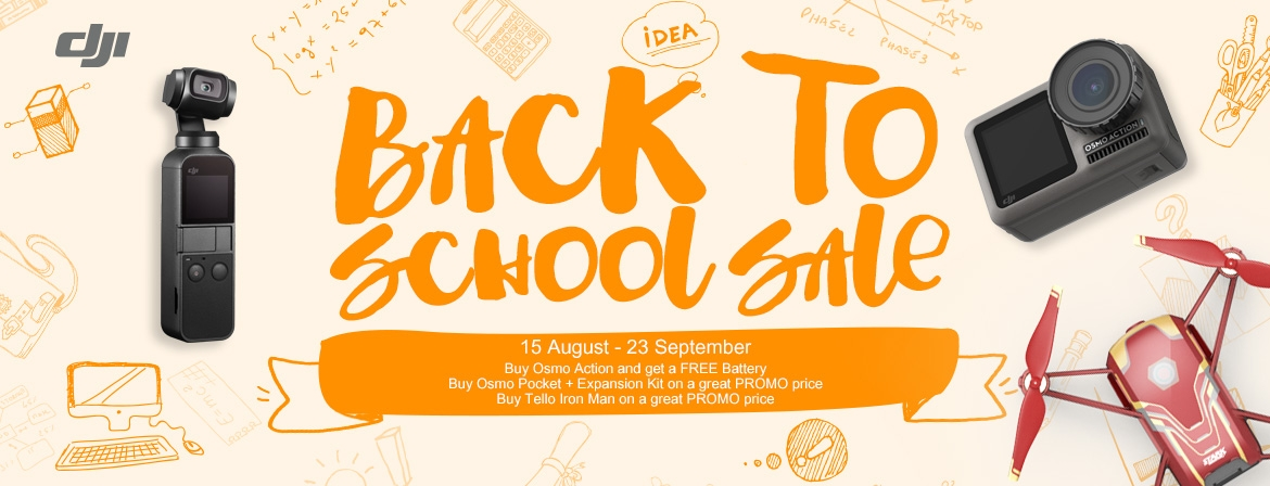 Back To School Promotion only in COPTERS.EU