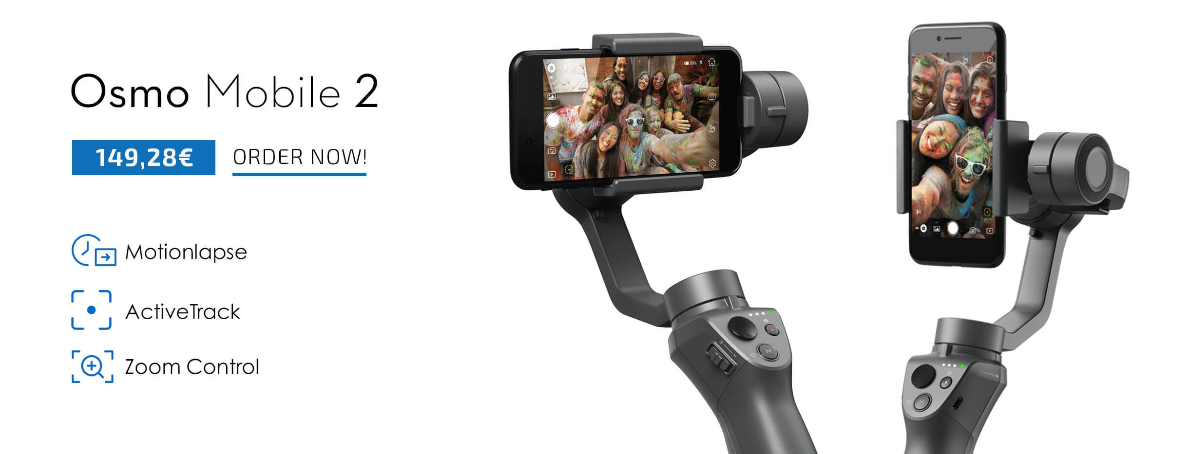 Buy DJI OSMO Mobile 2 on a great price from COPTERS.EU
